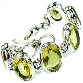 Citrine Sterling Silver Bracelet. Silver Gemstone Bracelets.