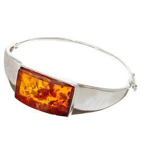 Baltic Amber Sterling Silver Bangle Bracelet