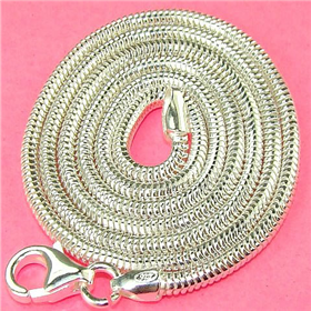 """Snake Sterling 925 Silver Chain 18"""""""