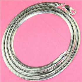 """Oval Sterling Silver Chain 18"""""""