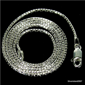 Stunning Coreana Sterling Silver Chain 18 inches long