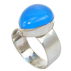 Botswana Agate Sterling Silver Ring size P