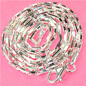 """Hesle Snap Sterling Silver Chain 20"""""""