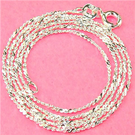 """Twisted Serpentine Sterling Silver Chain 18"""""""