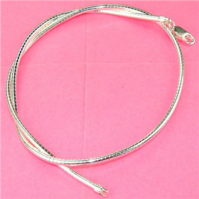 """Omega Sterling 925 Silver Chain 18"""""""