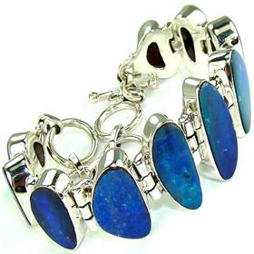 Fire Opal Sterling Silver Bracelet Jewellery