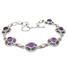 Fancy Amethyst Sterling Silver Bracelet