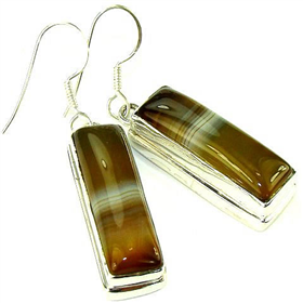 Botswana Agate Sterling Silver Earrings Jewellery.Silver Gemstone Earrings.