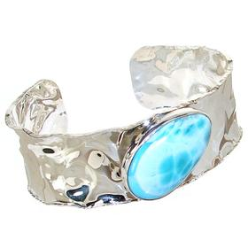 Fabulous Larimar Sterling Silver Bracelet Bangle