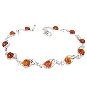 Stunning Baltic Amber Sterling Silver Bracelet