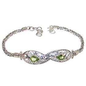 Elegant Peridot Sterling Silver Bracelet