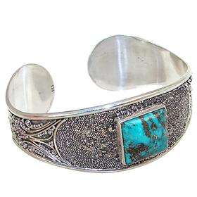 Oriental Turquoise Sterling Silver Bracelet Bangle