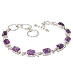 Gorgeous Amethyst Sterling Silver Bracelet