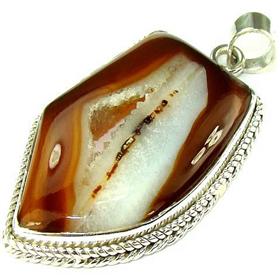 Druzy Sterling Silver Pendant Jewellery.Silver Gemstone Pendant.