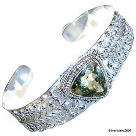 Incredible Green Amethyst  925 Silver Bracelet Jewellery.Silver Gemstone Bracelet.