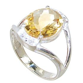 Artisan Citrine Sterling Silver Ring size N 1/2