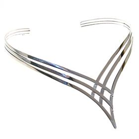 Chunky Torc Collar Sterling Silver Necklace Jewellery