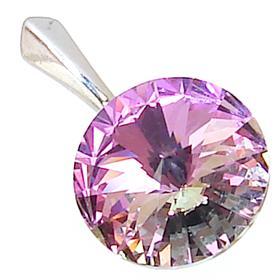 Swarovski Amethyst Sterling Silver Pendant