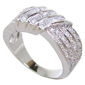 White Quartz Sterling Silver Ring size L