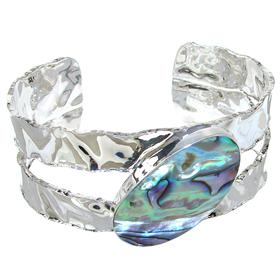 Designer Abalone Sterling Silver Bracelet bangle