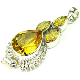 Incredible Cubic Zirconia Sterling Silver Pendant Jewellery