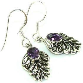 Amethyst  925 Silver Earrings Jewellery.Silver Gemstone Earrings.