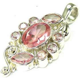 Incredible Cubic Zirconia Sterling Silver Pendant Jewellery.