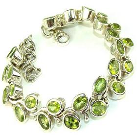 Peridot Sterling Silver Bracelet Jewellery