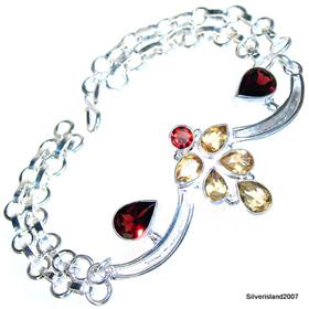 Garnet Sterling Silver Bracelet Jewellery