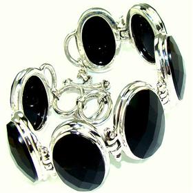 Black Onyx Sterling Silver Bracelet Jewellery