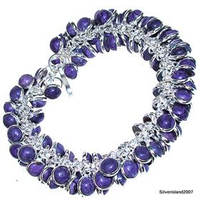 Charoite Sterling Silver Bracelet Jewellery
