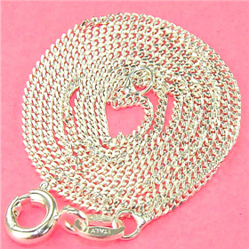 Incredible Cuban Sterling Silver Chain 18""