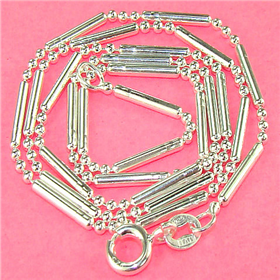 """Beads Cut Sterling Silver Chain 18"""" Jewellery"""