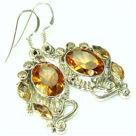 Finest Quality Cubic Zirconia Sterling Silver Earrings Jewellery