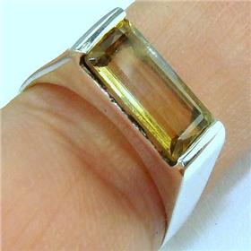 Sunny Citrine  925 Silver Ring