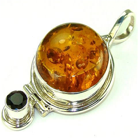 Amber Sterling Silver Pendant Jewellery