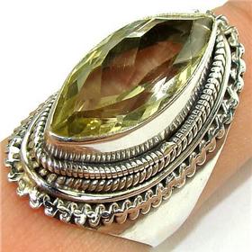 Massive Citrine  925 Silver Ring Jewellery