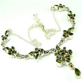 Peridot  925 Silver Necklace