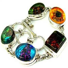 Dichroic Glass Sterling Silver Bracelet Jewellery