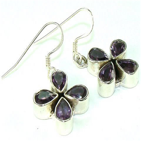 Amethyst Sterling Silver Earrings