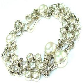 Ocean Pearl Sterling Silver Bracelet