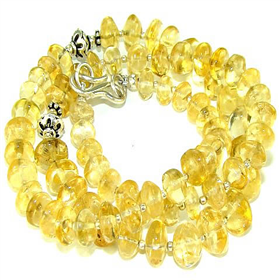 Sunny Citrine Sterling Silver Necklace Jewellery
