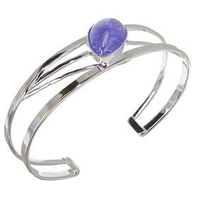Designer Stunning Tanzanite Sterling Silver Bracelet Bangle
