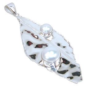 Designer Pearl Sterling Silver Pendant