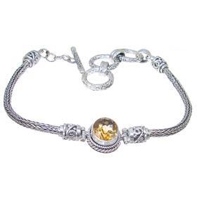 Bali Citrine Sterling Silver Bracelet