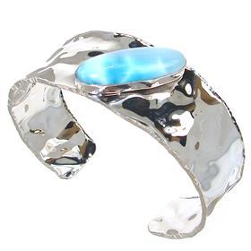 Fabulous Larimar Sterling Silver Bracelet Bangle