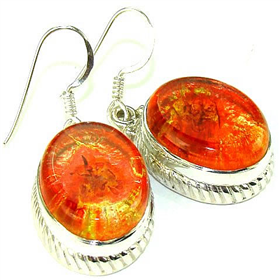 Dichroic Glass  925 Silver Earrings