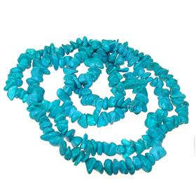 Fancy Turquoise Fashion Necklace 34 inches long