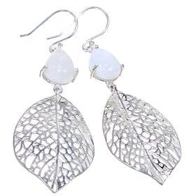 Rainbow Moonstone Sterling Silver Gemstone Earrings