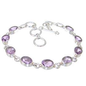 Royal Amethyst Sterling Silver Bracelet
